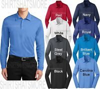 Mens Long Sleeve Polo Shirt Moisture Wicking Performance Golf XS-2XL 3XL 4XL NEW