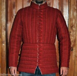 Thick padded red Gambeson role play movies theater custom Medieval arm