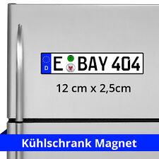 Kühlschrank-Magnet mit Kfz-Kennzeichen oder Wunschtext. Individuelle Bestellung.