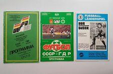LOT 3 Programmes DDR-USSR 1987 1989 UEFA Euro World Cup Football Soccer Soviet