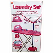 CHILDS LAUNDRY IRONING AND WASHING DRYER  IRON ROLE PLAY SET BRAND NEW BOXED