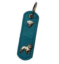 Französische Bulldogge 10 Farben Anhänger Hund Hundehalsband Leder LEDASS92