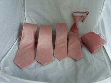"Dusky Pink Polyester Tie>Classic 3.3""- Slim 3""- Skinny 2.5"" Boys 2.5""-Hanky-Sets"