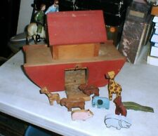 Amazing Custom Home Made Wooden Noah'S Ark Birdhouse with 9 Animals