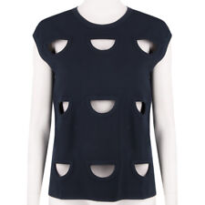 Stella McCartney Runway Collection Midnight Blue Cutout Top Tank IT38 UK6
