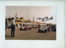 Tony Brooks Ferrari Dino 246 Italian Grand Prix 1959 Signed Photograph