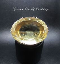 Victorian 9ct Gold Large 83 carat Oval Citrine Brooch 36mm x 28mm 24.7g