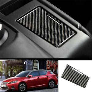 For Lexus CT200h 2011-2017 Carbon Fiber console Cigarette lighter panel trim