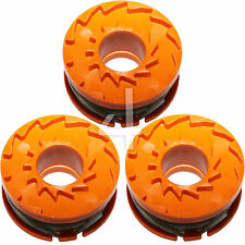3 x ALM Trimmer Spool & Line for Worx WG165 (24v) WG166 WG167 WG169 Strimmers
