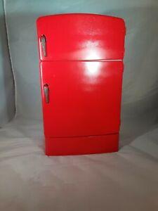 Wolverine Refrigerator Vintage Tin Toy Fridge Red Approx. 8 x 13.5 x 5.25 USA