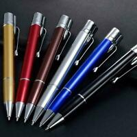 Metal Portable Adjustable Straight Flame Windproof Ball Point Gas Lighter U7R3