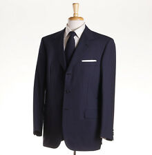 NWT $5495 BRIONI 'Nomentano' Navy-Blue Subtle Stripe Extrafine Wool Suit 44 R