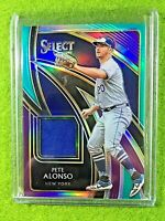 PETE ALONSO JERSEY CARD TRI COLOR PRIZM PATCH #/75 METS 2020 Panini Select RELIC