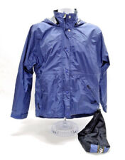 REI ELEMENTS WOMENS FULL ZIP WATERPROOF WINDBREAKER - SIZE SMALL IN DK BLUE EUC