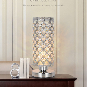 Modern Crystal Table Lamp Bedside lamp Nightstand Decorative Room Desk Lamp