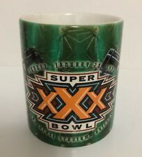 Super Bowl XXX 1996 NFL Football Collectible  Mug Dallas Cowboys VS Steelers
