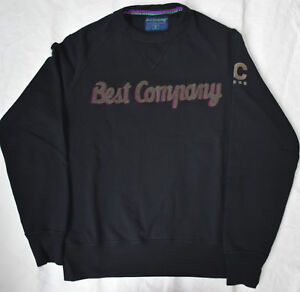 Best Company 1982 Felpa Girocollo 692010 in Nero Various Sizes