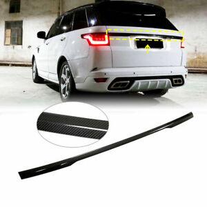 Carbon Fiber Rear Tailgate Trunk Cover Trim For Land Rover Range Rover Sport 14+