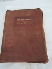 THE LAW OF LOVE - Wm Marion Reedy-Calf leather binding 1905 - First Edition