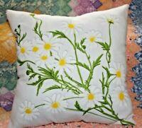 Vintage Vera Neumann Daisies Napkin Ladybug Logo Throw Pillow
