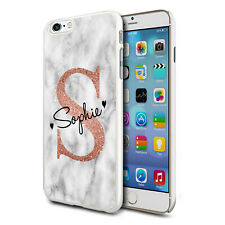 Personalised Marble Phone Case Cover For Apple Samsung Initial Name - Ref 02