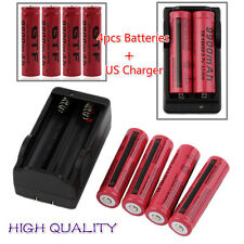 4pcs 18650 3.7V 9900mAh Rechargeable Li-ion Battery + Charger For Flashlight#S