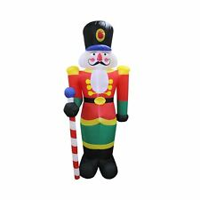 Christmas Inflatable 240cm Tall Nutcracker Soldier LED Lit Outdoor Display