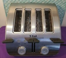 T-Fal Avante High Speed 4 Slice Bagel Toaster Stainless Steel VGC L@@K!!