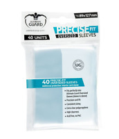 (40) Ultimate Guard Oversized Clear Precise Fit Sleeves 89x127mm Fits In Sleeves