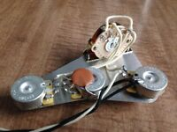 1960's Fender Stratocaster Style Wiring Harness 250k Dish Back CTS Pot .1uf Cap