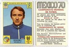 (gk128-379) PANINI MEXICO 70 FOOTBALL CRD Bohumil Vesely CZECHOSLOVAKIA 1970 VG+