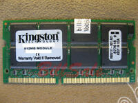 (US) KINGSTON 512MB X1 SODIMM 144PIN PC133 SDRAM laptop notebook memory RAM 2