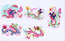 Paper Cuts Dragon SET 9 Colorful small Single pieces Zhou 1 packet Lot