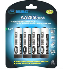 4 x AA DIGIMAX Rechargeable 2850 mAh NI-MH Batteries 2850mAh HIGH CAPACITY