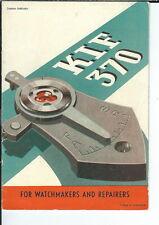 MG-015 - Vintage KIF 370 Advertising Booklet Watch Jewel Shock Absorber Illust
