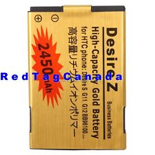 2450mAh Gold Battery For HTC Incredible S G11 Desire S G12 A7272 Desire Z -CA