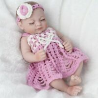 Girls Reborn Dolls Full Silicone Vinyl Newborn Doll Washable Xmas Gift 10""