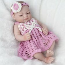 """Girls Reborn Dolls Full Silicone Vinyl Newborn Doll Washable Xmas Gift 10"""""""