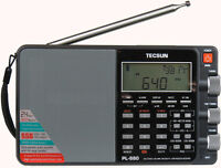 Tecsun PL880 PLL Dual Conversion AM FM Shortwave Portable Radio with SSB - Black