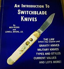 AN INTRODUCTION TO SWITCHBLADE KNIVES, MYERS, NEW 1982 BOOK, 100 PICTURES SALE
