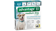 Bayer Advantage II Small Dogs  11-20 Lbs 4 Pack Topical Flea & Lice Treatment