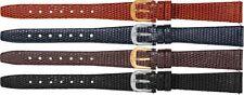 New Ladies Flat Lizard Grain Leather Watch Strap Band