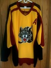 Chicago Wolves Men's 2XL Alpha Wolf Stitched Jersey with Patch 2012-13