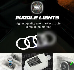 2X HD Puddle Lights Door Courtesy Projectors Compatible with AUDI by FKAUTO