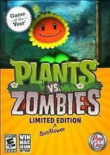 Plants Vs. Zombies - Game Of The Year - Limited Edition Sunflower  Pc/mac New