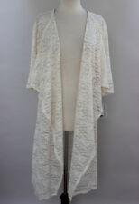 Large LuLaRoe Shirley Kimono Vintage Floral Lace Off White Ivory Cream sh53