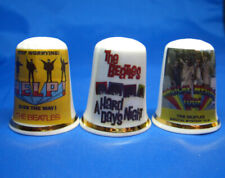 Birchcroft China Thimbles -- Set of Three -- Beatles Film Posters