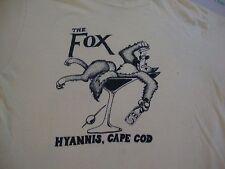 Vintage THE FOX Hyannis Cape Cod Bar Lounge Liquor Beer Party 80's T Shirt M