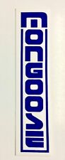 MONGOOSE Decal - Old School BMX  bike/bicycle - blue-vertical-