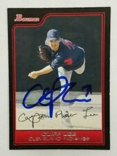 Cliff Lee Signed 2006 Bowman #177 Trading Card (Indians) COA